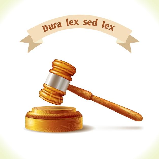 Law judge gavel Premium Vector