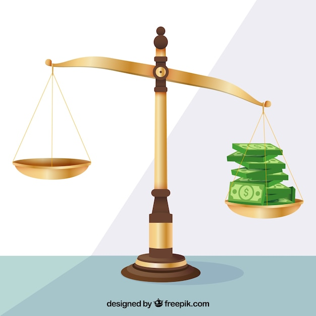 Law and justice concept with flat design Free Vector