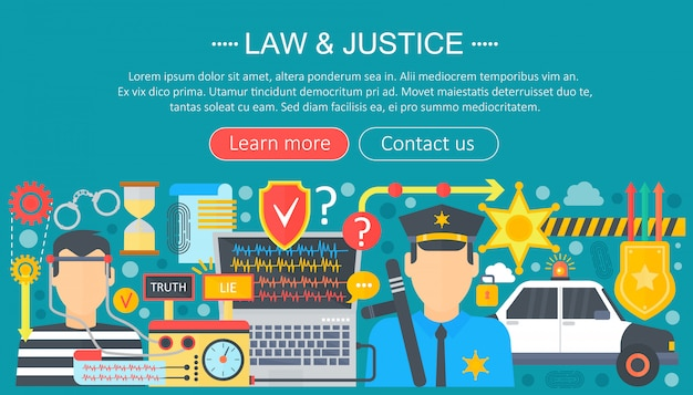 Law and justice infographics template design Premium Vector