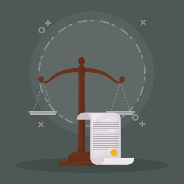 Law and justice Premium Vector