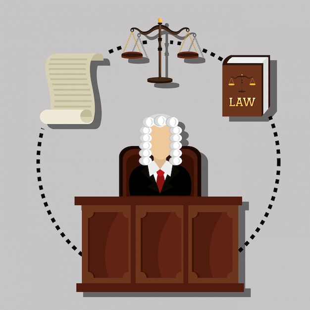 Law and legal justice graphic Free Vector