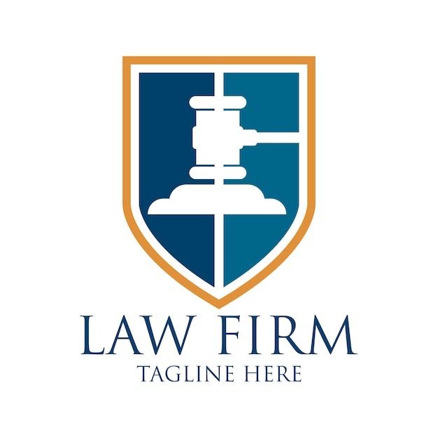 law logo design vector premium download
