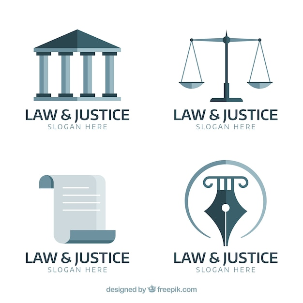 Law logotype  set Free Vector
