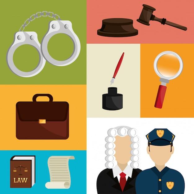 Law and order design Premium Vector