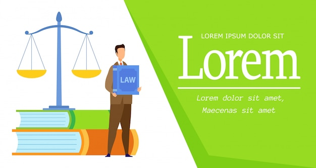 Law science degree web banner vector template Premium Vector