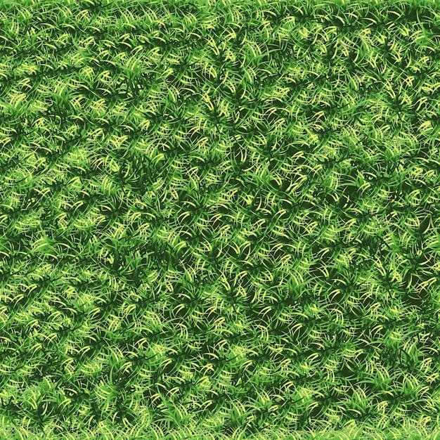 Газон бесшовные летом, зеленое поле текстуры Premium векторы
