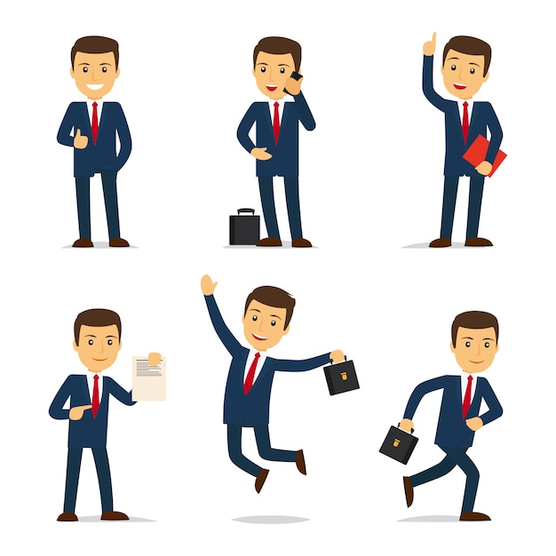 Lawyer or attorney cartoon character Premium Vector