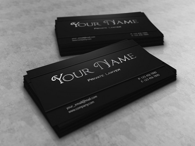 Lawyer Business Card Design Vector Free Download