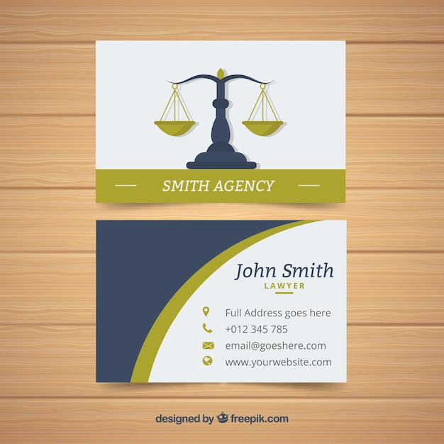 Lawyer business card Free Vector