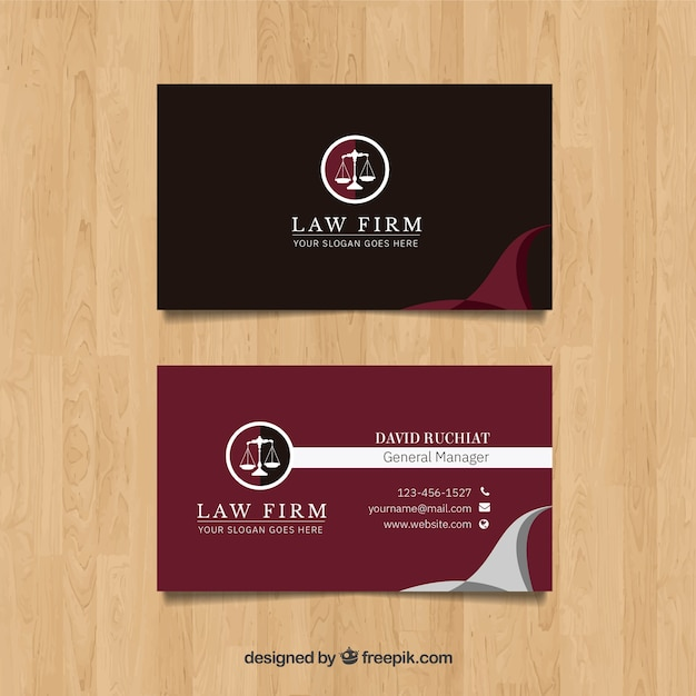 Lawyer card template Free Vector