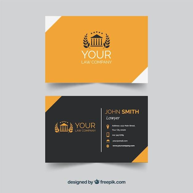 Шаблон карточки адвоката Бесплатные векторы