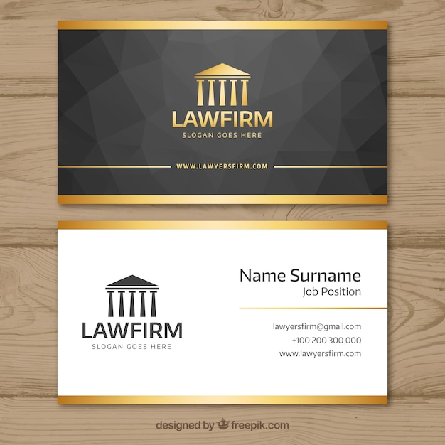 Lawyer card template Premium Vector