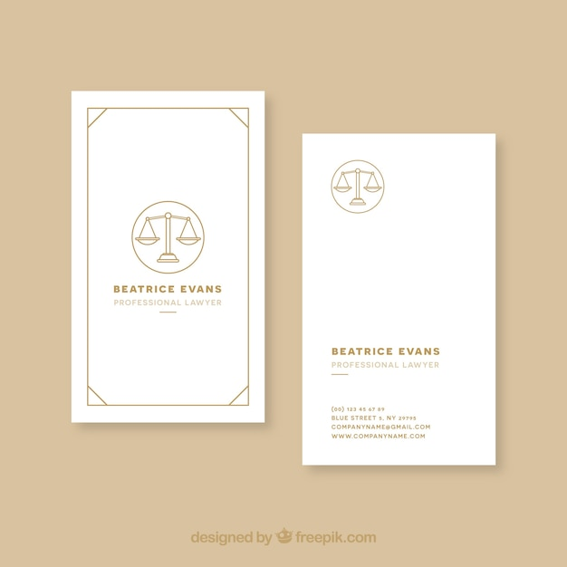 Lawyer card template Vector | Free Download