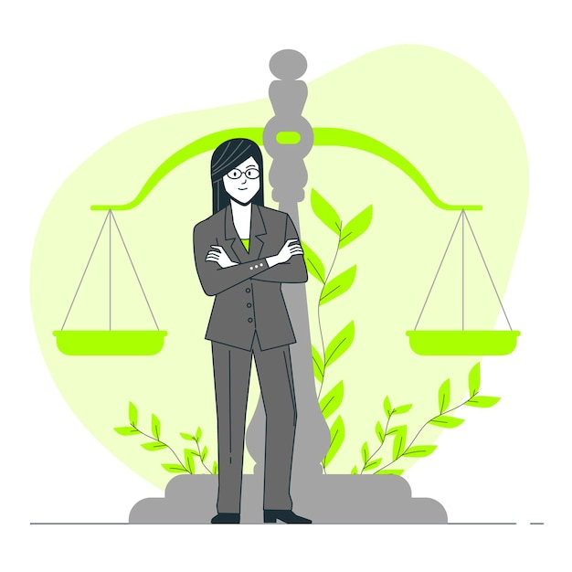 Юрист концепция иллюстрации Бесплатные векторы