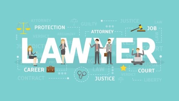Юрист концепция иллюстрации. Premium векторы