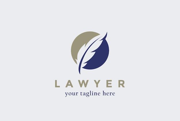 Lawyer law firm logo  icon. Premium Vector