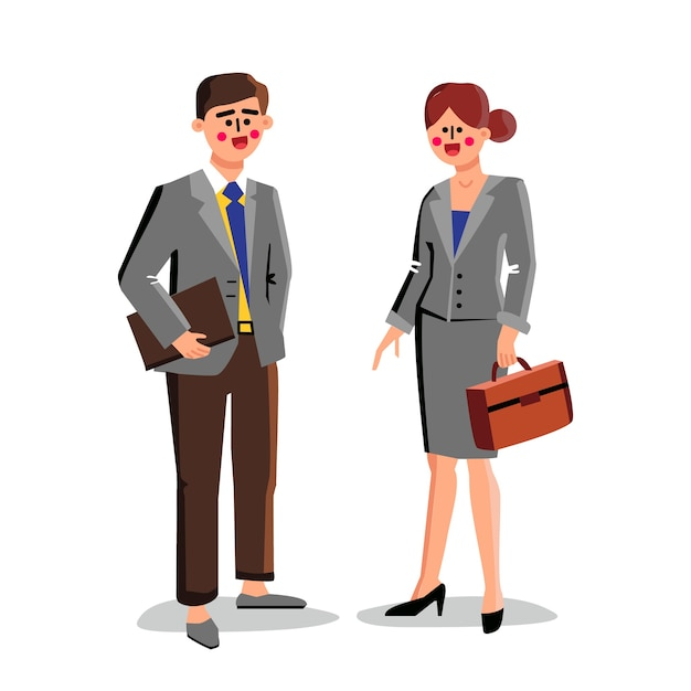 Адвокаты бизнес-работников мужчина и женщина Premium векторы