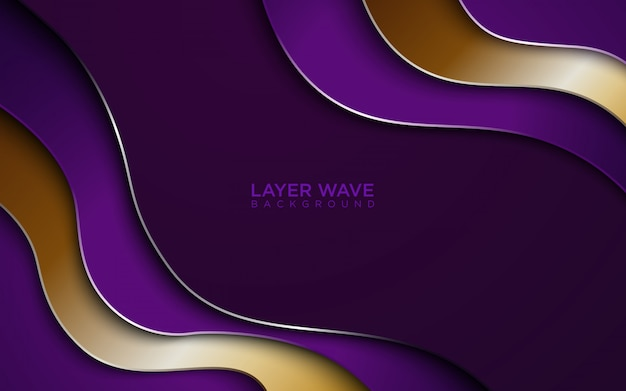 Layer wave abstract background Premium Vector