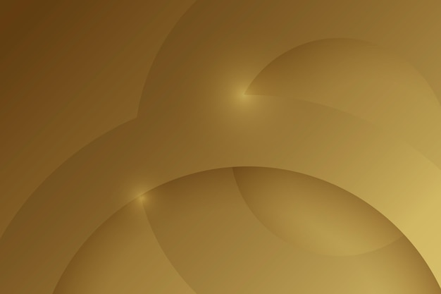 Layers of circular gold luxury shapes background Premium Vector
