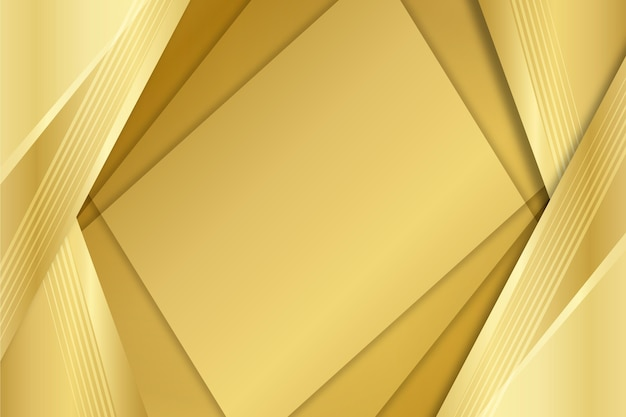 Layers of squares gold luxury shapes background Free Vector