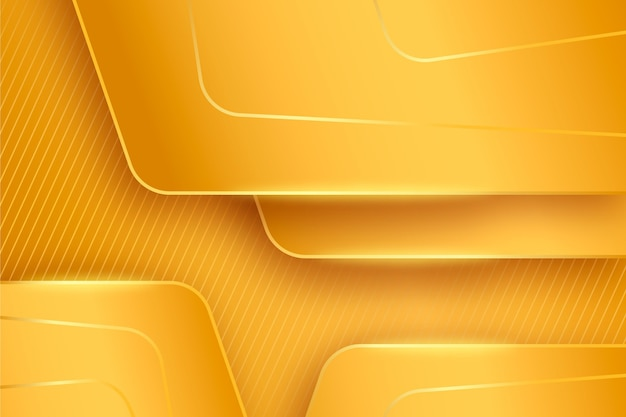 Layes of gold luxury background Free Vector