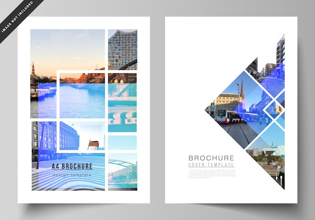 The layout of a4 format modern cover design templates for brochure, magazine, flyer, booklet, annual report. Premium Vector