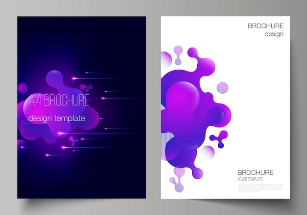 Layout of a4 format modern cover design templates. Premium Vector