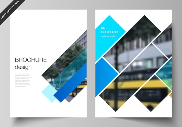 The layout of a4 format modern cover  templates for brochure Premium Vector