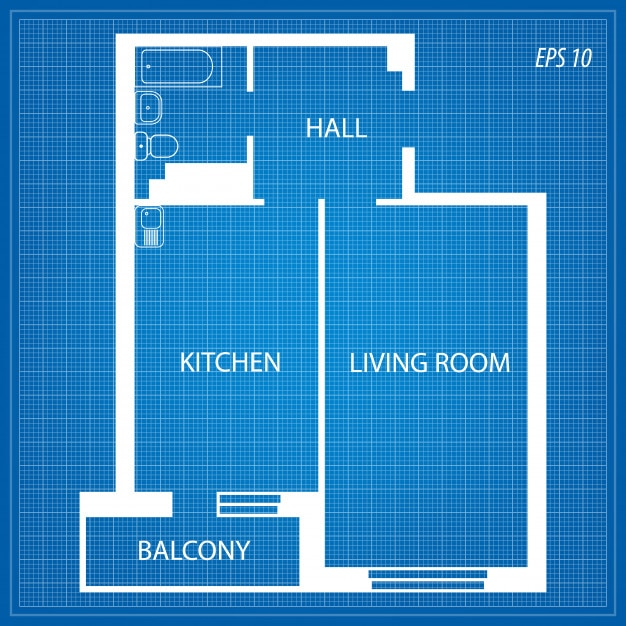Layout of the apartment. Premium Vector
