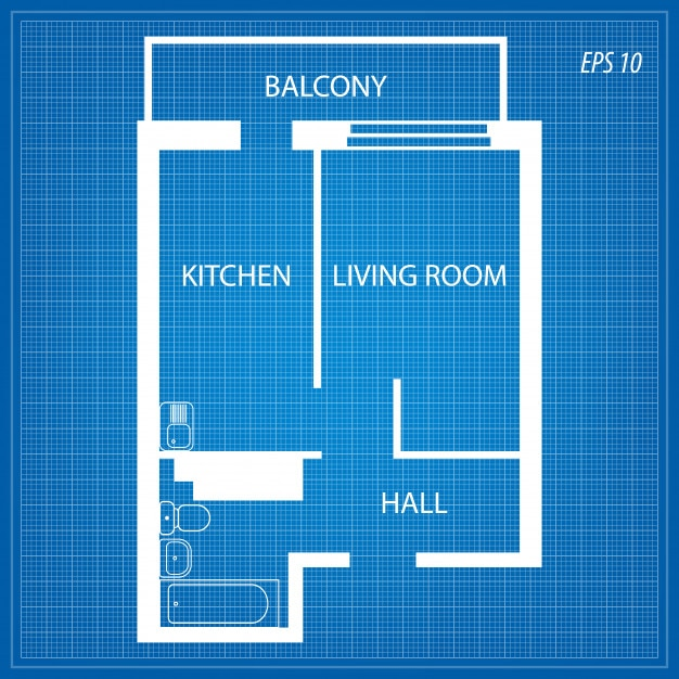 Layout of the apartment. Premium Vector
