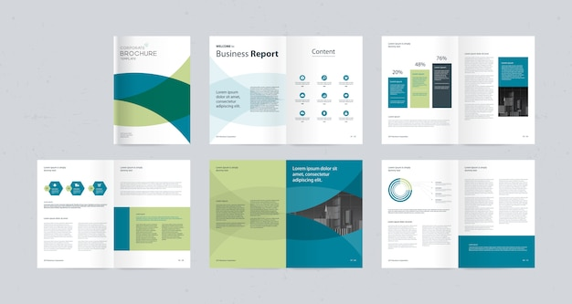 Layout design  template with page cover Premium Vector