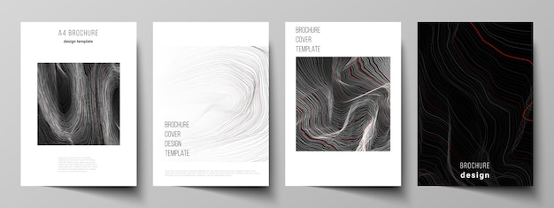The layout of format modern cover templates for brochure Premium Vector