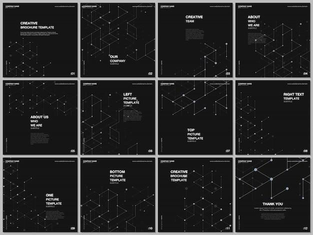 Макет шаблонов обложек для флаера Premium векторы