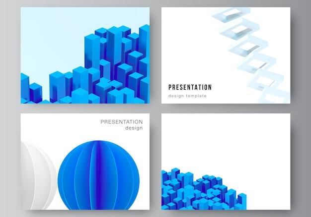 Верстка шаблонов слайдов презентации Premium векторы