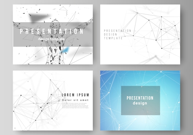 Layout of the presentation slides  templates, technology, science, medical Premium Vector