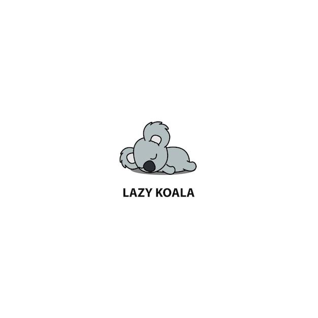 Lazy koala sleeping icon Premium Vector