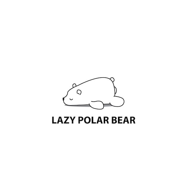 premium vector lazy polar bear icon https www freepik com profile preagreement getstarted 2205866