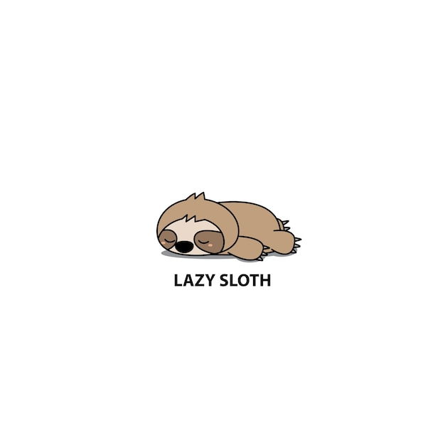 Lazy sloth sleeping icon Vector Premium Download