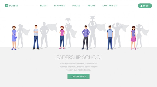 Leaders school website Premium Vector