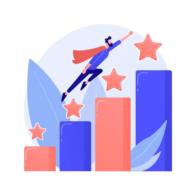 リーダーシップと仕事の昇進。成功したプロジェクト、スタートアップの立ち上げ、開発。チームリーダー、ceoフラットキャラクター。ロケットの概念図に座っている漫画の女性 無料ベクター