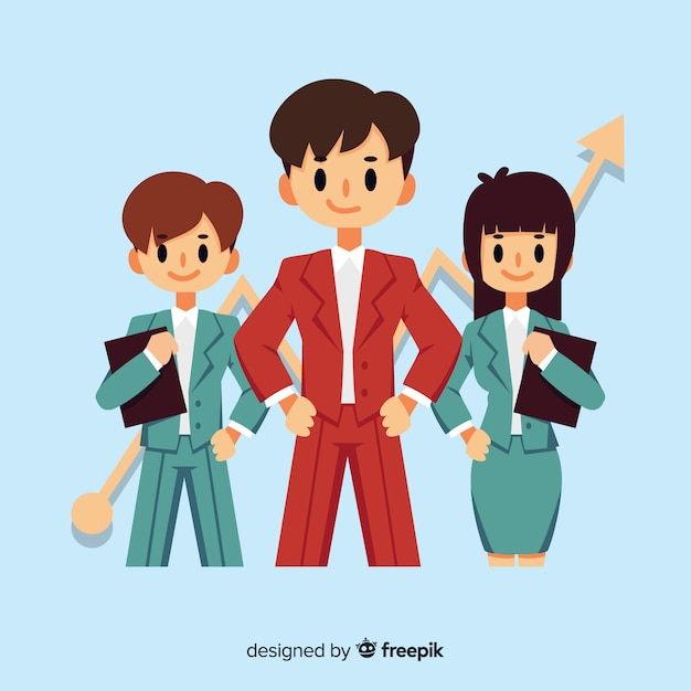 Leadership background in flat style Free Vector