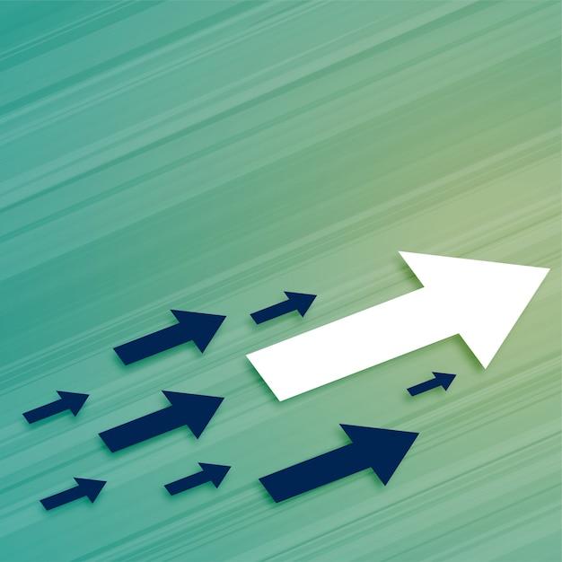 リーダーシップビジネス成長の矢印が前進する 無料ベクター