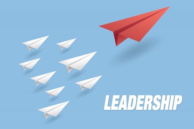 Leadership concept background Premium Vector