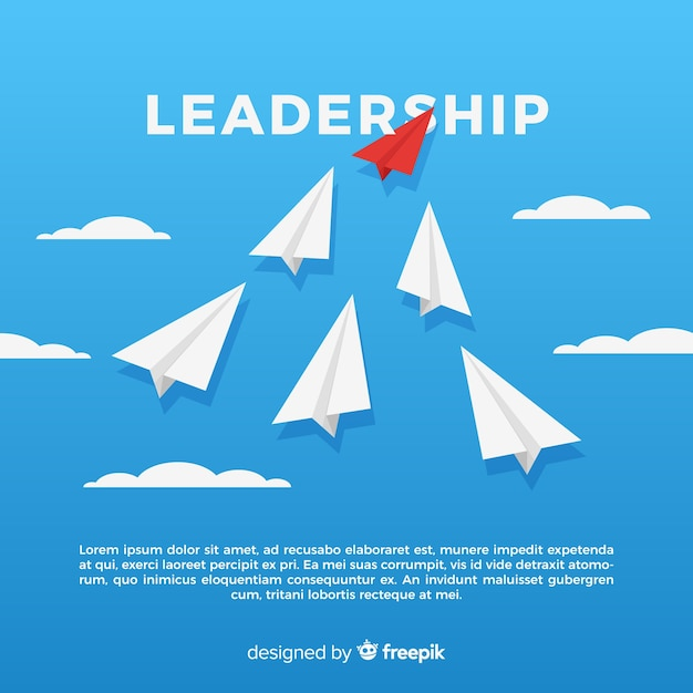 Leadership concept in flat design Free Vector