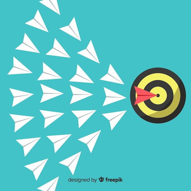 Leadership concept with paper planes Free Vector