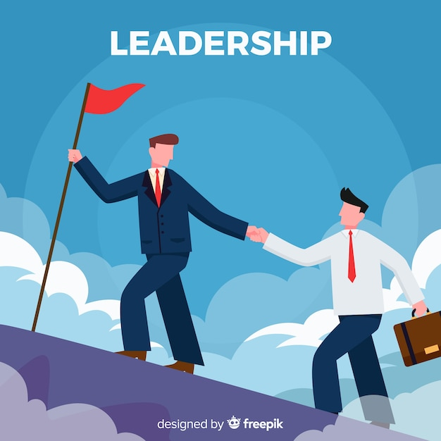Leadership design in flat style Free Vector
