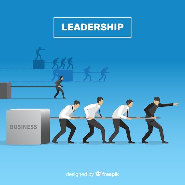 Design di leadership in stile piano Vettore gratuito