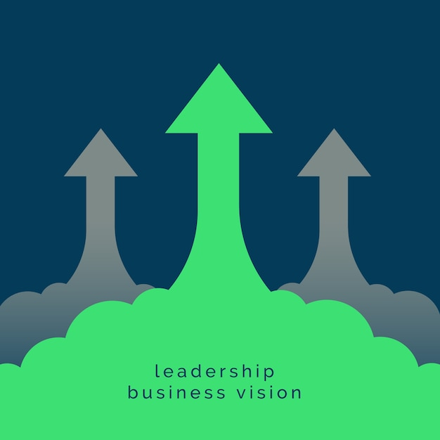 Leadership or growth concept design background Free Vector