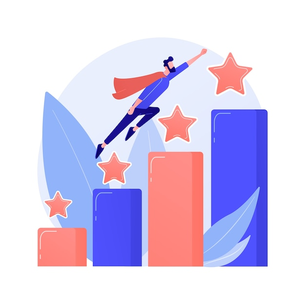 Leadership and job promotion. successful project, startup launching, development. team leader, ceo flat character. cartoon woman sitting on rocket concept illustration Free Vector