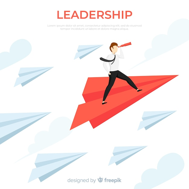 Leadership paper planes Free Vector